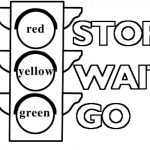 Traffic Light Signs Coloring Pages Printable Coloring Pages For   Free Printable Stop Sign To Color
