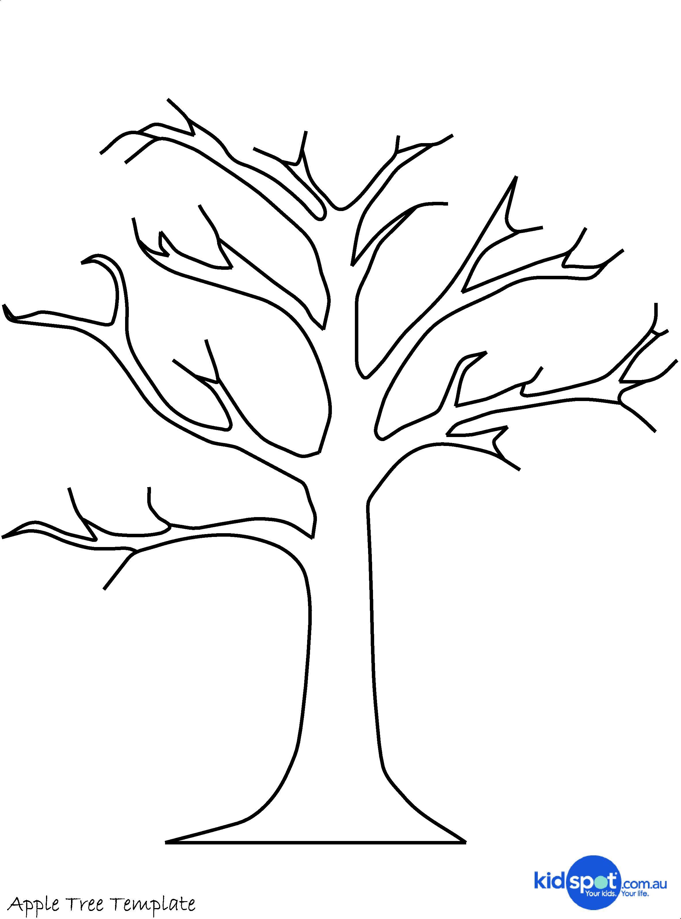 Tree Craft: Cork Stamp Apple Tree | Clip Art | Tree Templates, Tree - Free Printable Tree Template