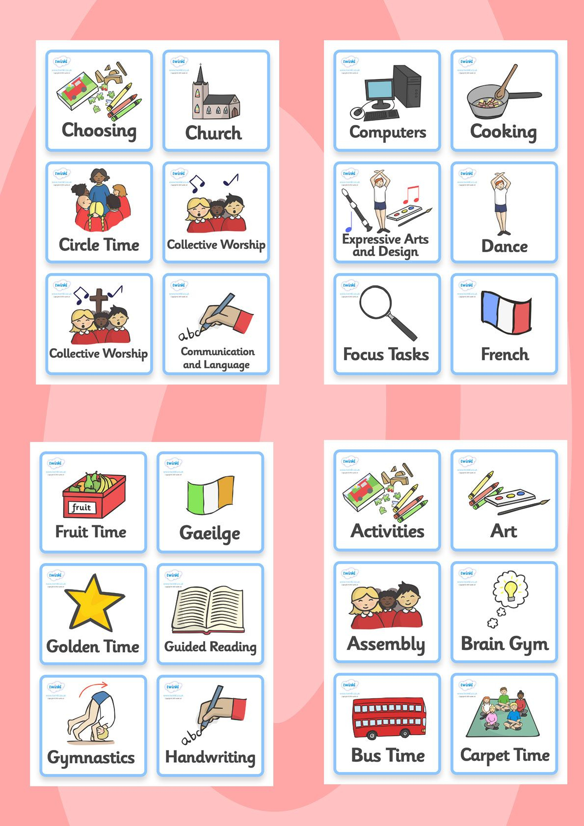 Twinkl Resources >> Visual Timetable- Nursery Fs2 >> Printable - Free Printable Nursery Resources