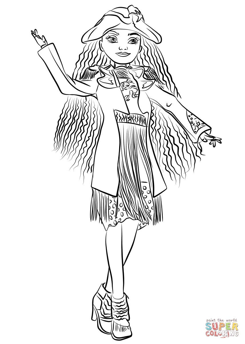 Uma From Descendants Coloring Page   Free Printable Coloring Pages - Free Printable Descendants Coloring Pages
