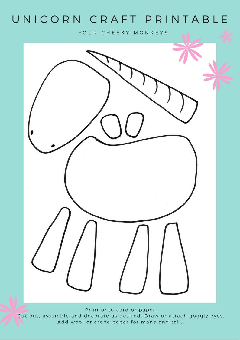 Unicorn Craft Activity: Flower Crown And Free Printables   Areglosde - Free Printable Crafts