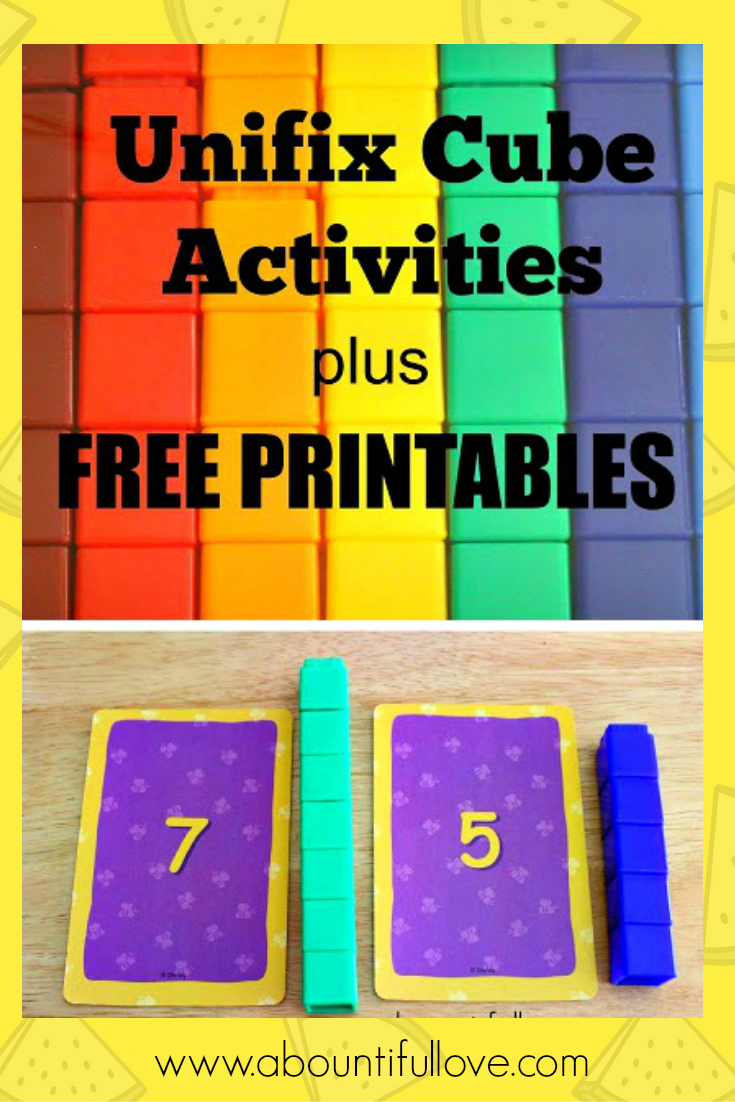 Unifix Cubes Activities Plus Free Printables | Snap Cards | Math - Free Printable Snap Cards