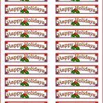 Unique Address Labels Template | Npfg Online   Free Printable Christmas Return Address Label Template