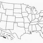 United States Map Blank Template Fresh Map Usa States Free Printable   Free Printable Usa Map