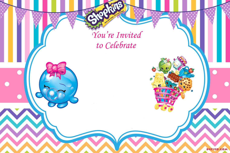 Updated - Free Printable Shopkins Birthday Invitation   Event - Shopkins Banner Printable Free