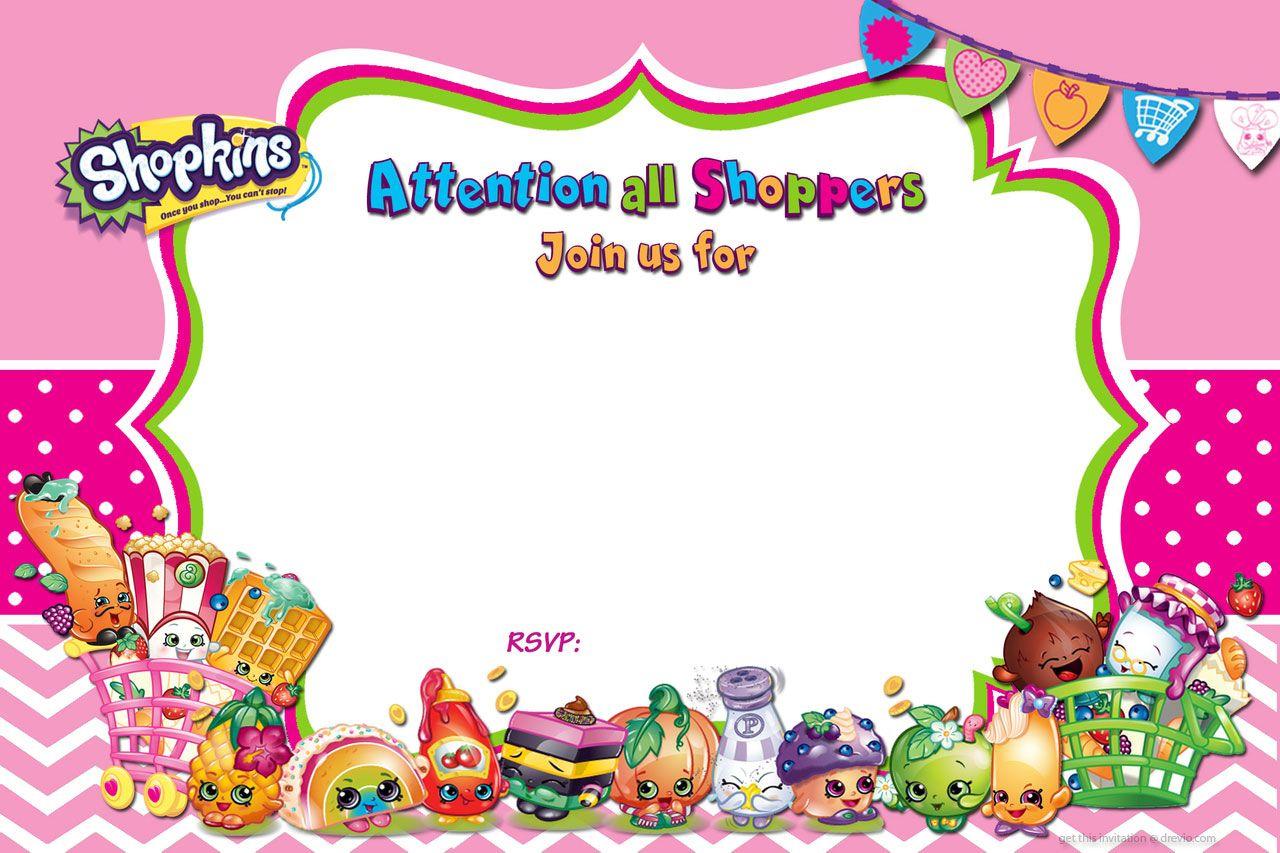 Updated - Free Printable Shopkins Birthday Invitation   Free - Shopkins Banner Printable Free
