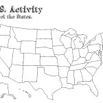 Us Map With Labels Of States Us Map Without Labels New Free Blank   Free Printable Outline Map Of United States