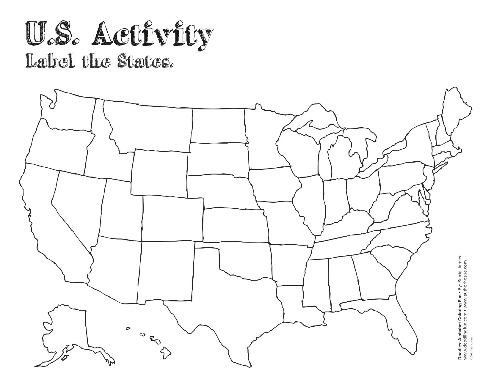 Us Map With Labels Of States Us Map Without Labels New Free Blank - Free Printable Outline Map Of United States