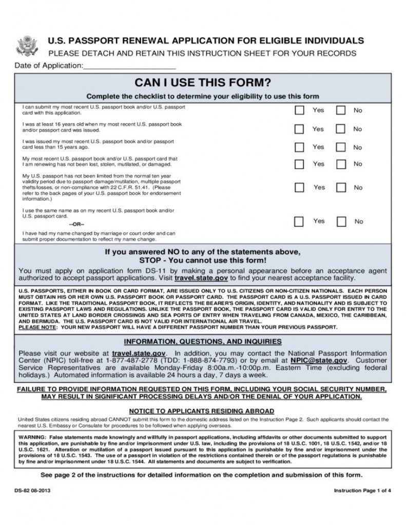 Us Passport Form Ds 11 21 Inspirational Ds 82 Printable Form Great - Free Printable Ds 11