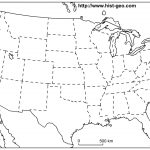 Us States Blank Map (48 States)   Free Printable Outline Map Of United States