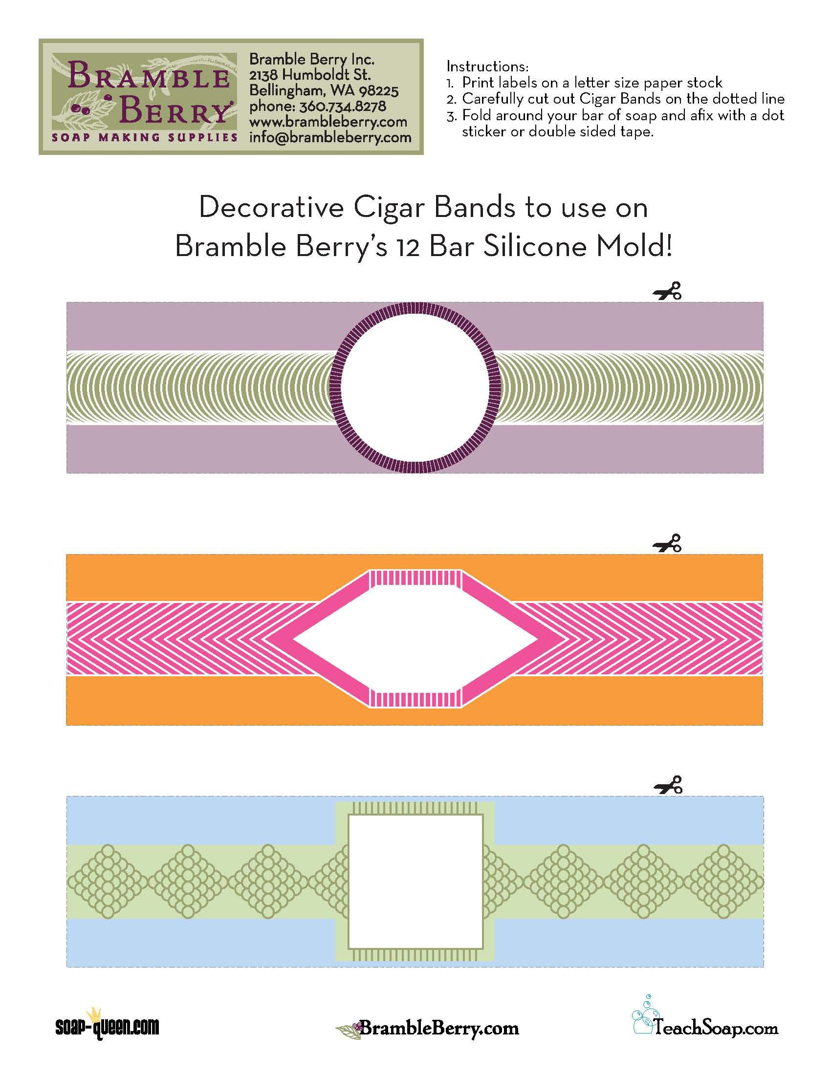 Use Our Free Label File To Print Out And Make Your Own Cigar Band - Free Printable File Labels