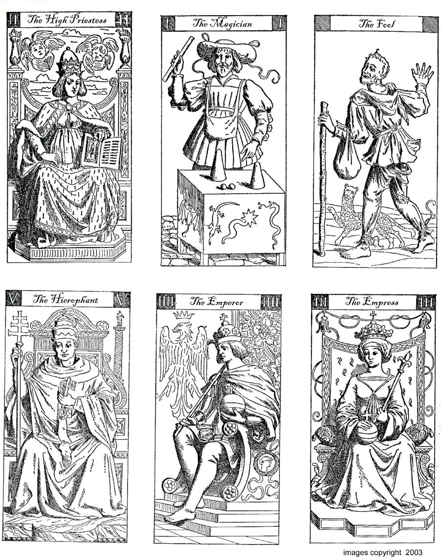Vacchetta Tarot Deck - To Print And Colour | Digital Downlaod Sites - Free Printable Tarot Cards
