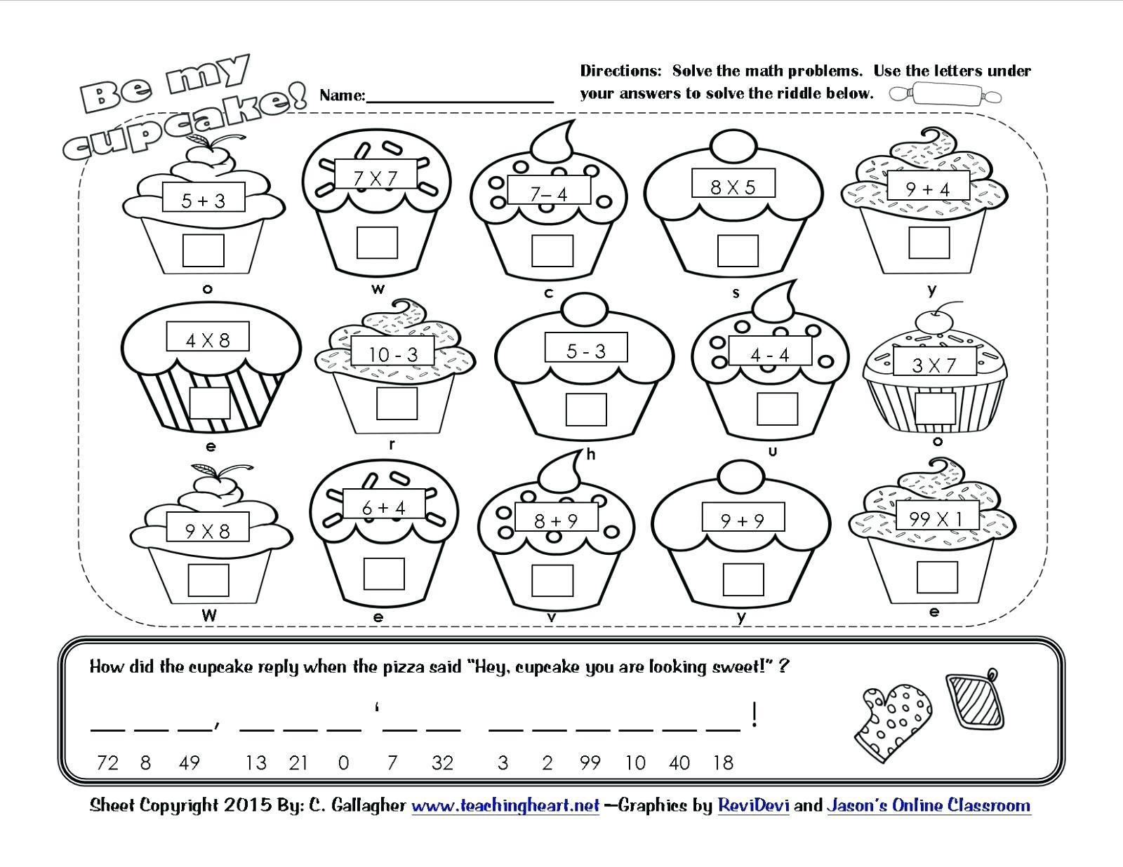 Valentine Kindergarten Worksheets – Thenineties.club - Free Printable Valentine Math Worksheets