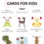 Valentines Day Cards For Kids: Free Printable Download | Kenarry   Free Printable Childrens Valentines Day Cards