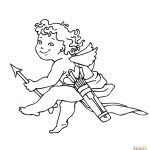 Valentine's Day Cupid Coloring Page | Free Printable Coloring Pages   Free Printable Pictures Of Cupid