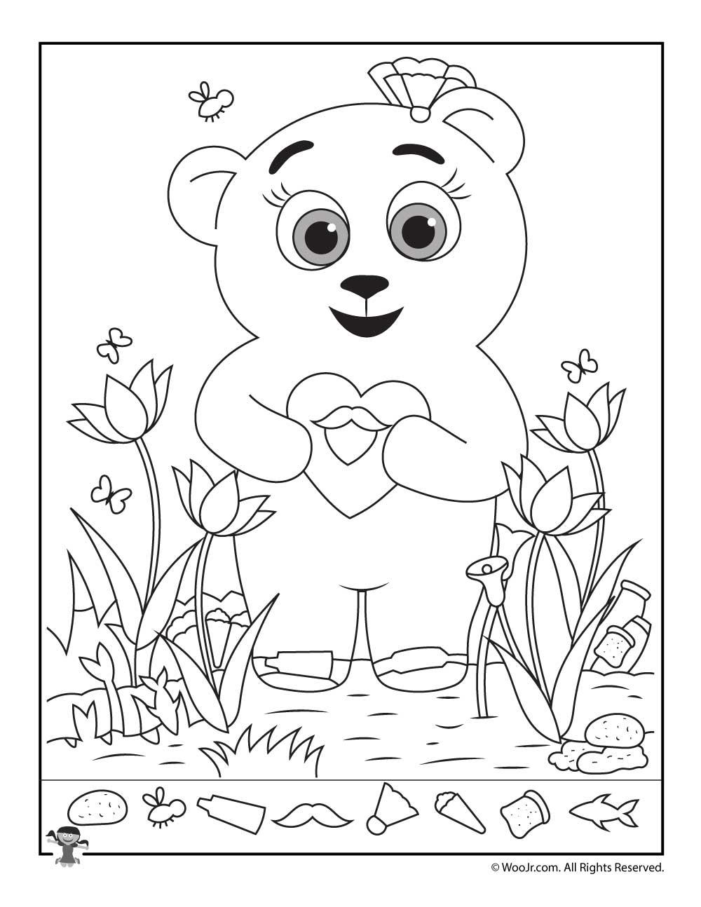 Valentine's Day Hidden Pictures Activity Pages   Woo! Jr. Kids - Free Printable Valentine Hidden Pictures