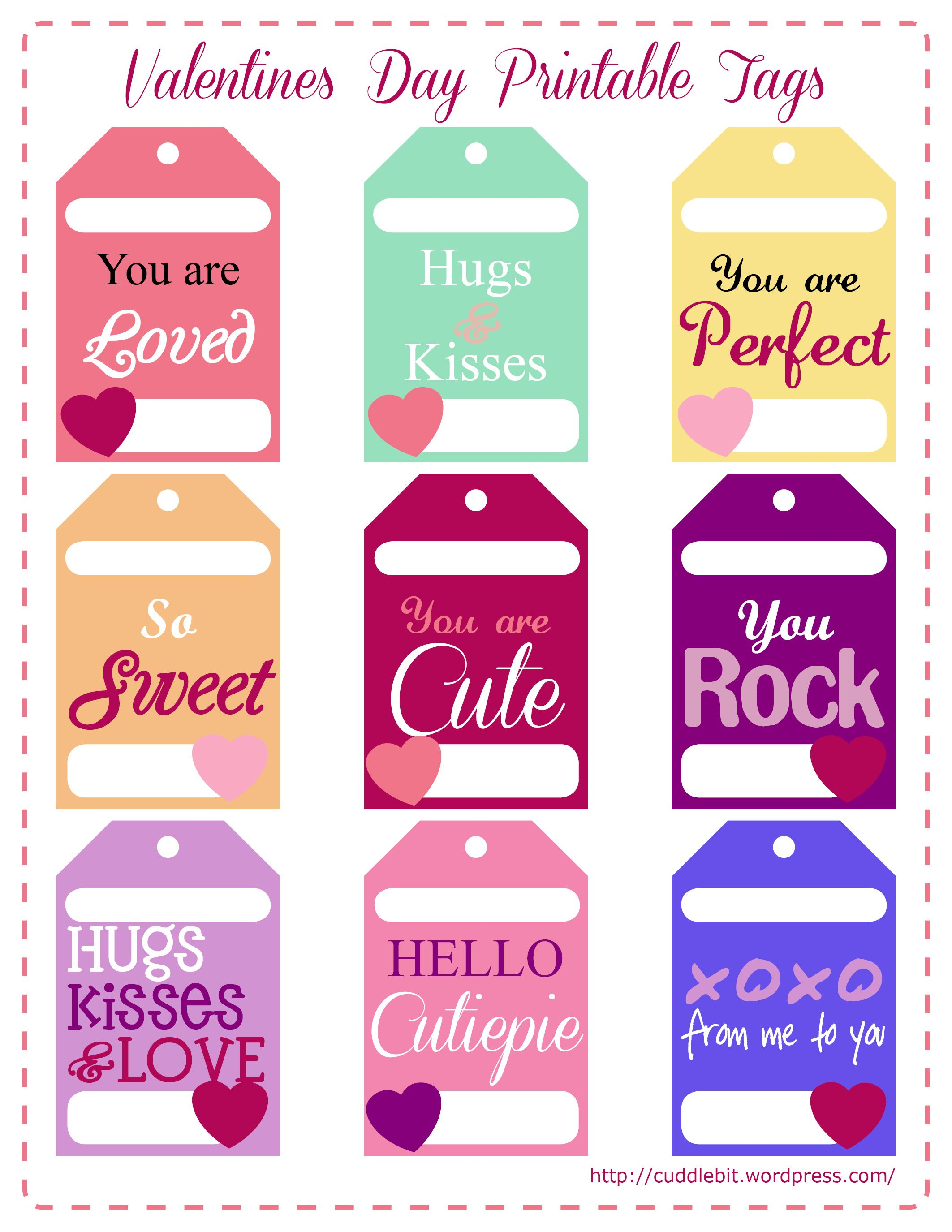 Valentine's Day Love Packs | So Stinking Cute!! | Valentines - Free Printable Valentine Tags