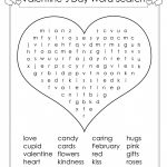 Valentines Day Word Search Large Light Pink Valentine S Crossword   Free Printable Valentine Word Search For Adults