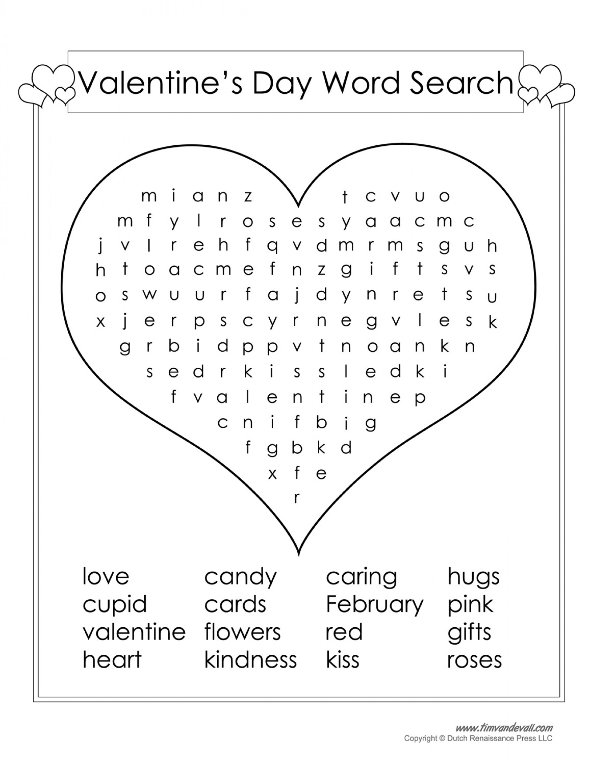 Valentines Day Word Search Large Light Pink Valentine S Crossword - Free Printable Valentine Word Search For Adults