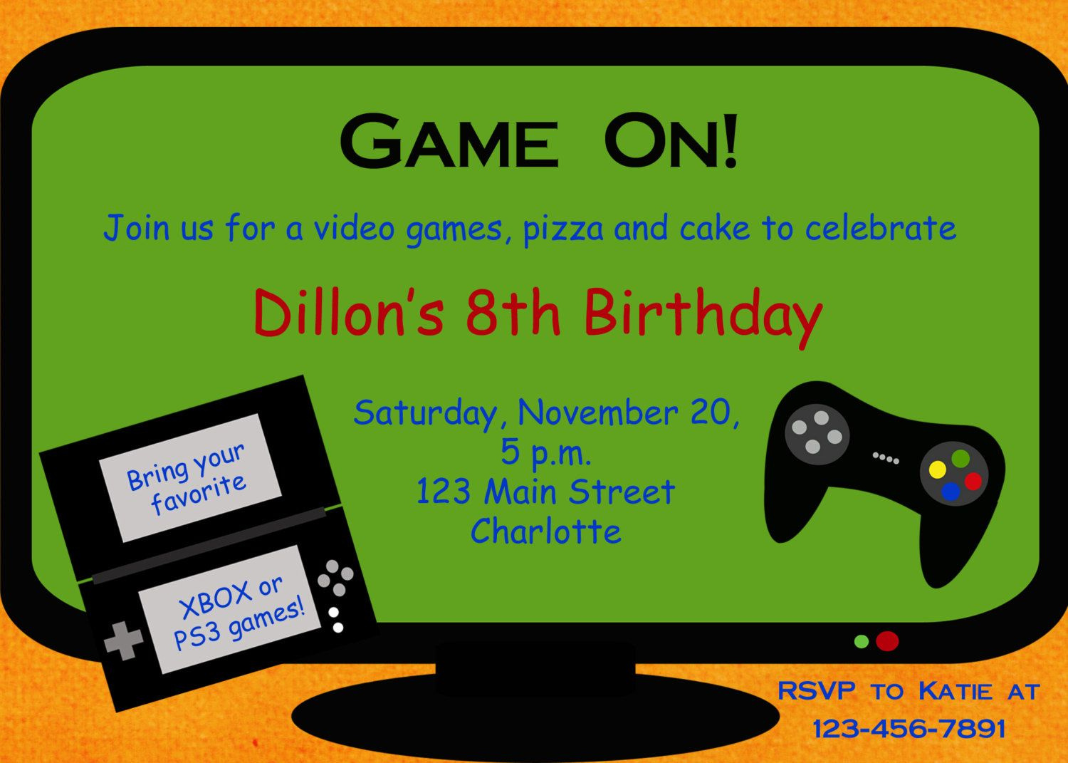 Video Game Party Invitation Template Free - Google Search   Party Ideas - Free Printable Video Game Party Invitations