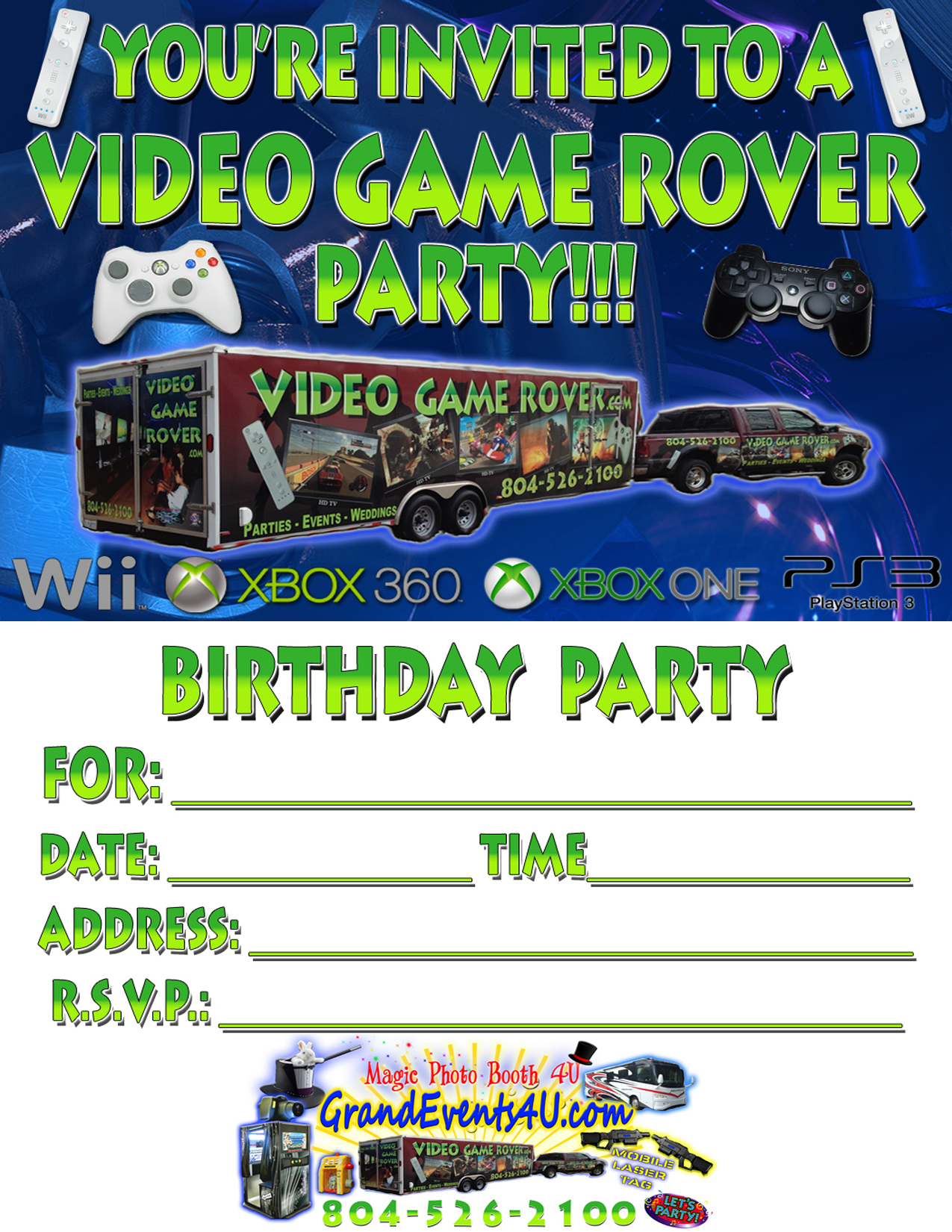 Video Game Party Invitations Video Game Party Invitations For - Free Printable Video Game Party Invitations