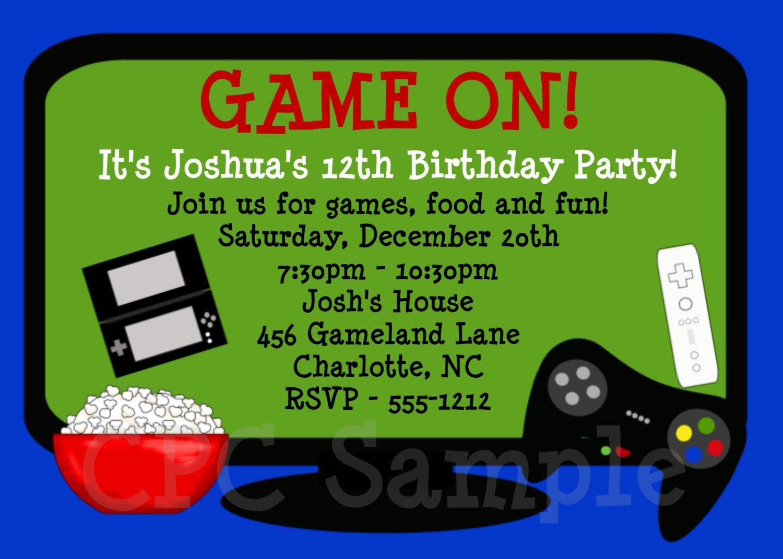 Video Games Birthday Invitation   Tuck's Birthday   Pinterest - Free Printable Video Game Party Invitations