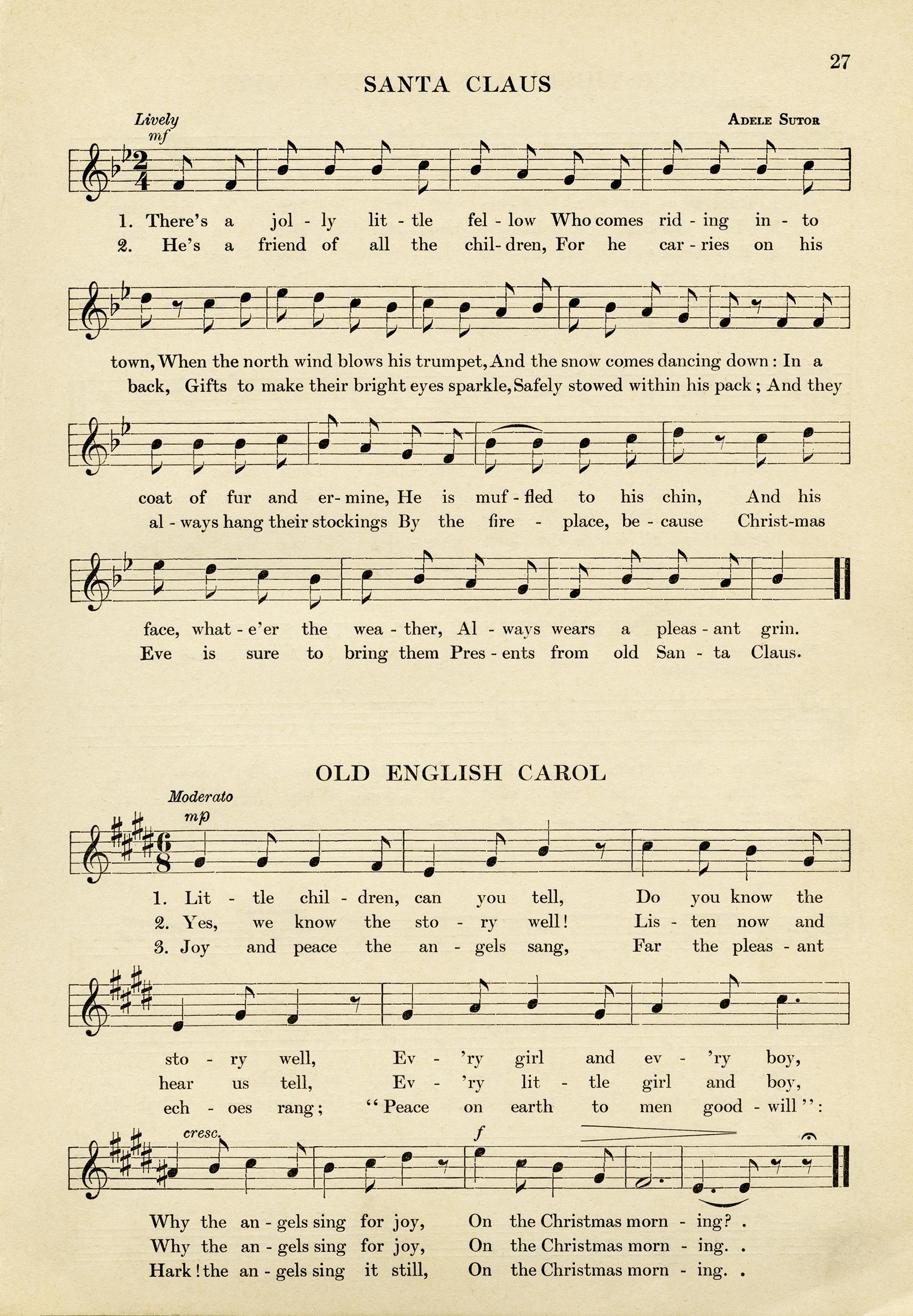 Vintage Christmas Sheet Music ~ Free Download - Old Design Shop Blog - Free Printable Christmas Carols Booklet