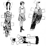 Vintage Kids Printable   Thanksgiving Paper Dolls   Cut And Color   Printable Paper Dolls To Color Free
