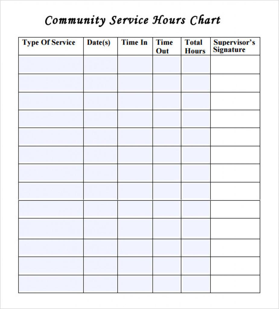 Volunteering Sheet - Bino.9Terrains.co In Free Printable Community - Free Printable Community Service Log Sheet