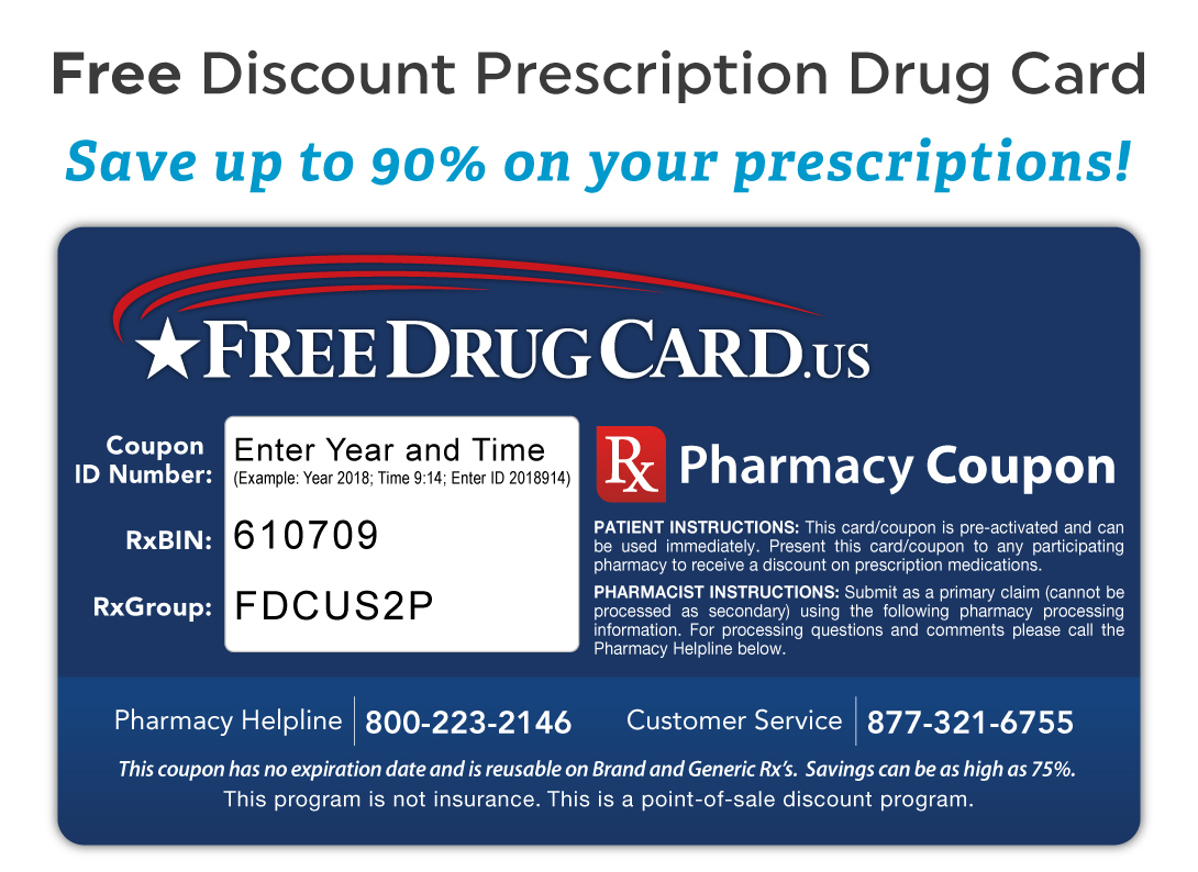 Walgreens Pharmacy Discount Prescription Card - Savings On Rx Drugs - Free Printable Prescription Coupons