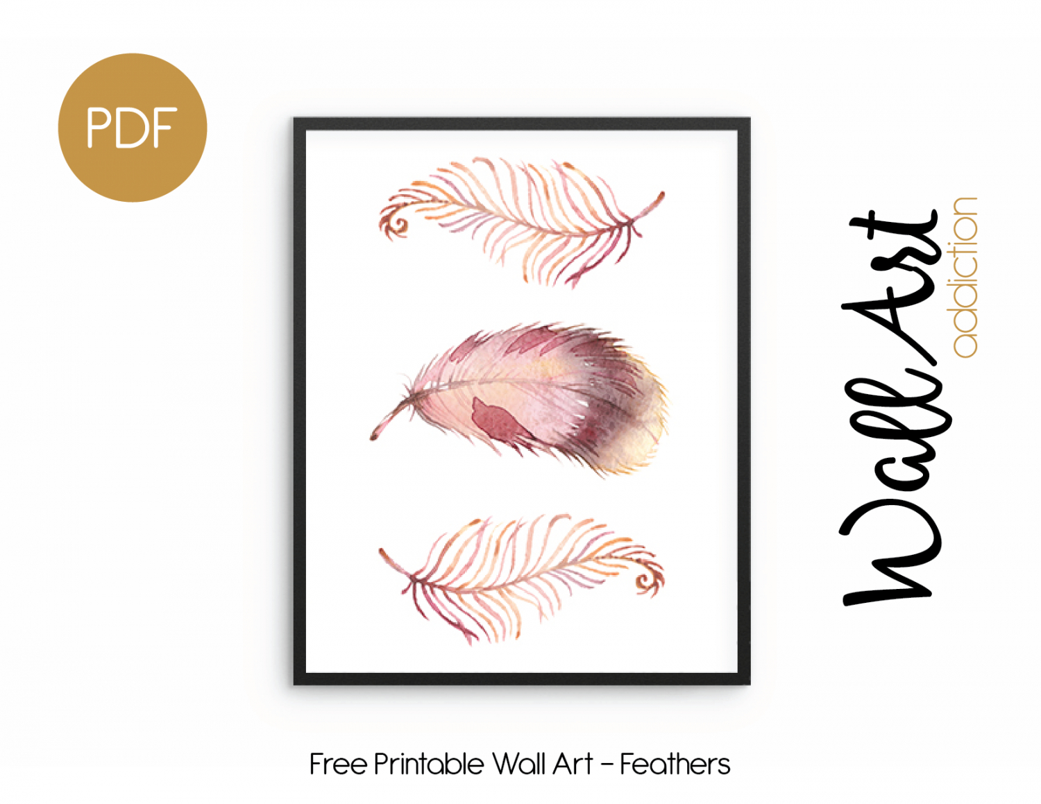 Wall Art Addiction   Feathers - Free Printable Art Pictures