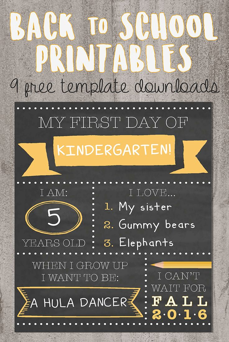 Want To Be That Instagram Mom? Try Our Printable Back-To-School - Free Printable Sign Templates
