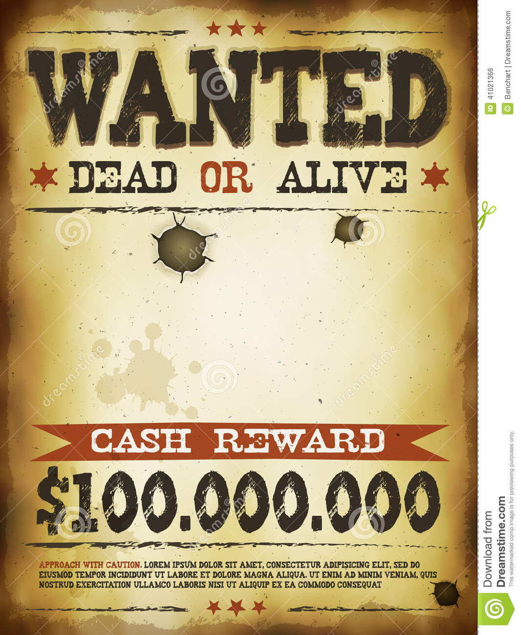 Wanted Vintage Western Poster Stock Vector - Illustration Of Boys - Free Printable Wanted Poster Old West