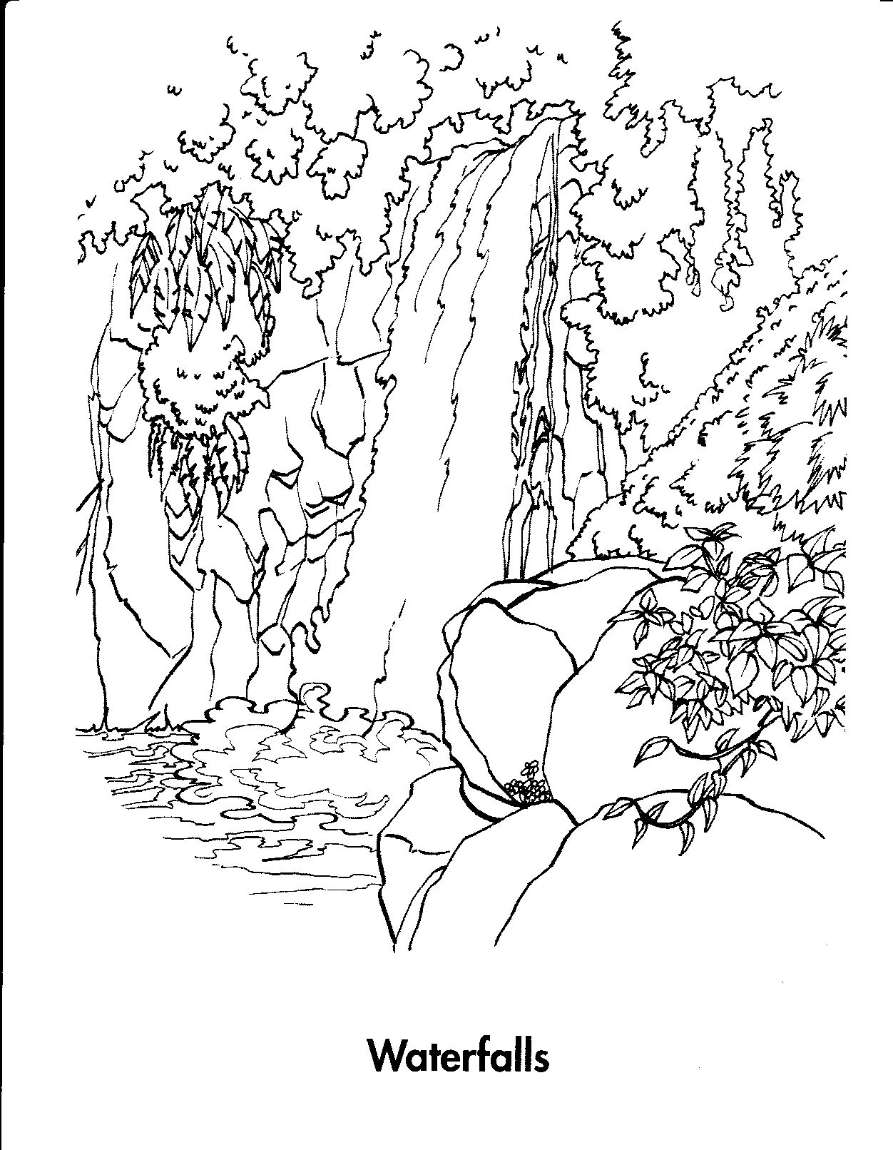 Waterfall Coloring Pages Printable   Photos   Pinterest   Coloring - Free Printable Waterfall Coloring Pages