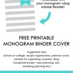 Ways To Organize Using Binder Covers (Plus A Free Printable Monogram   Free Printable Monogram Binder Covers