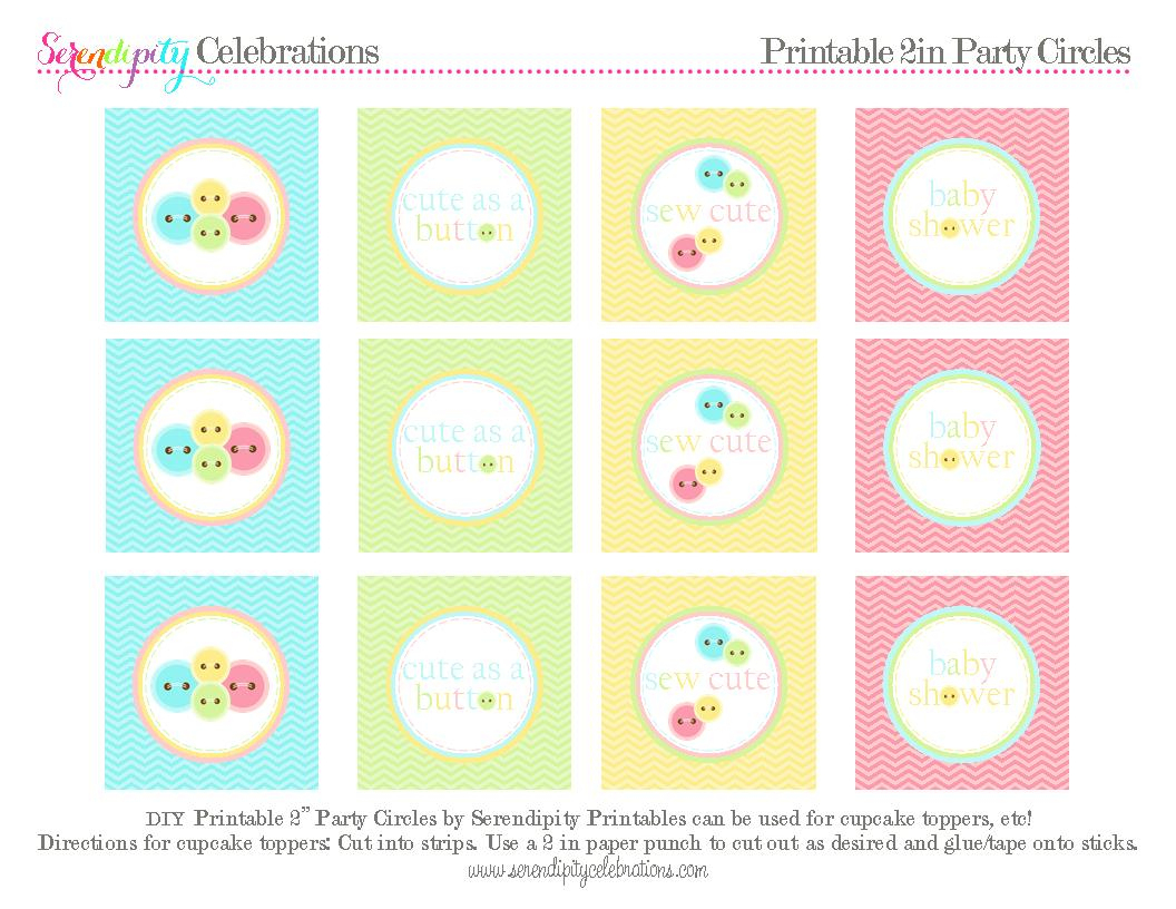 We Heart Parties: Free Printables Cute As A Button Free Printables - Free Printable Party Circles