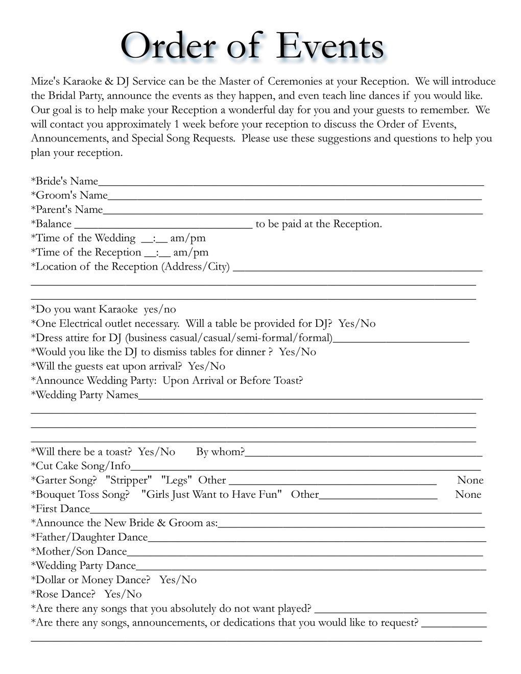 Wedding Itinerary Templates Free | Wedding Template | Projects To - Free Printable Itinerary