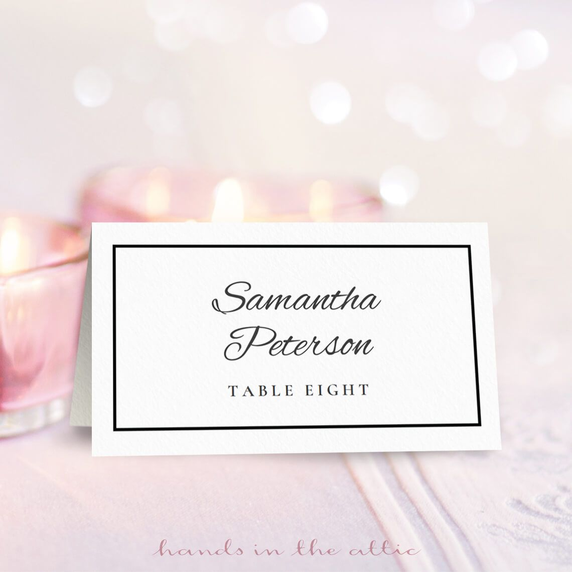 Wedding Place Card Template   Free On Handsintheattic   Place - Free Printable Place Cards Template