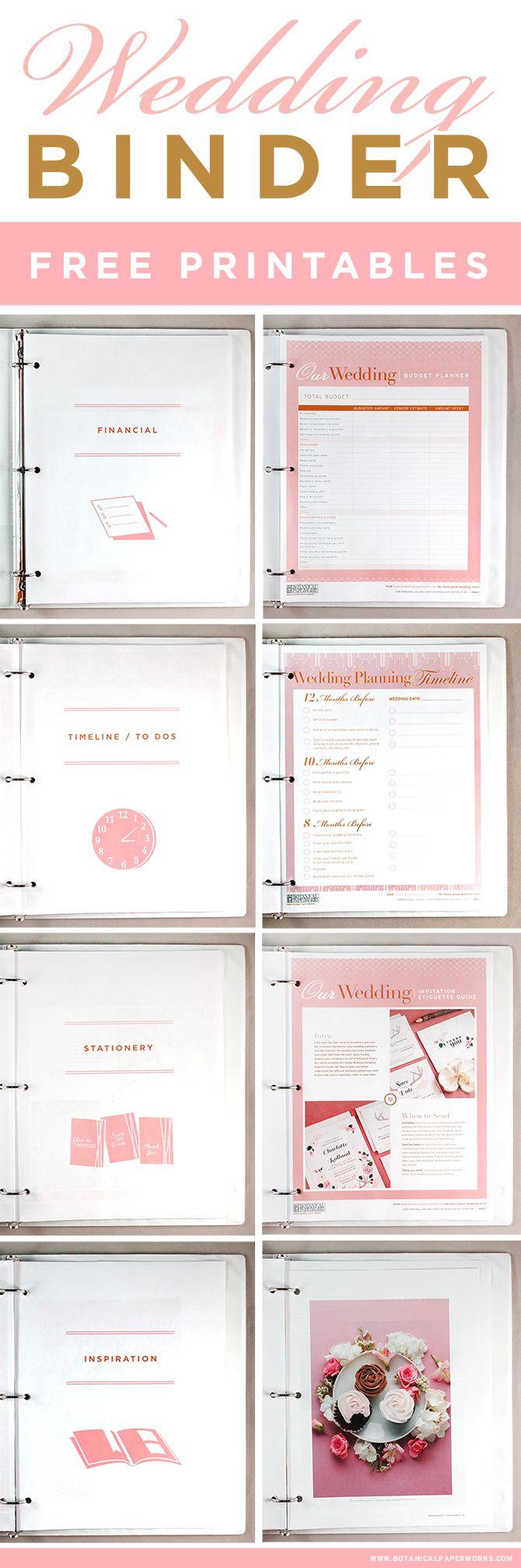 Wedding Planner Guide Free Printable – Wedding Planner Template - Free Printable Wedding Planner Forms