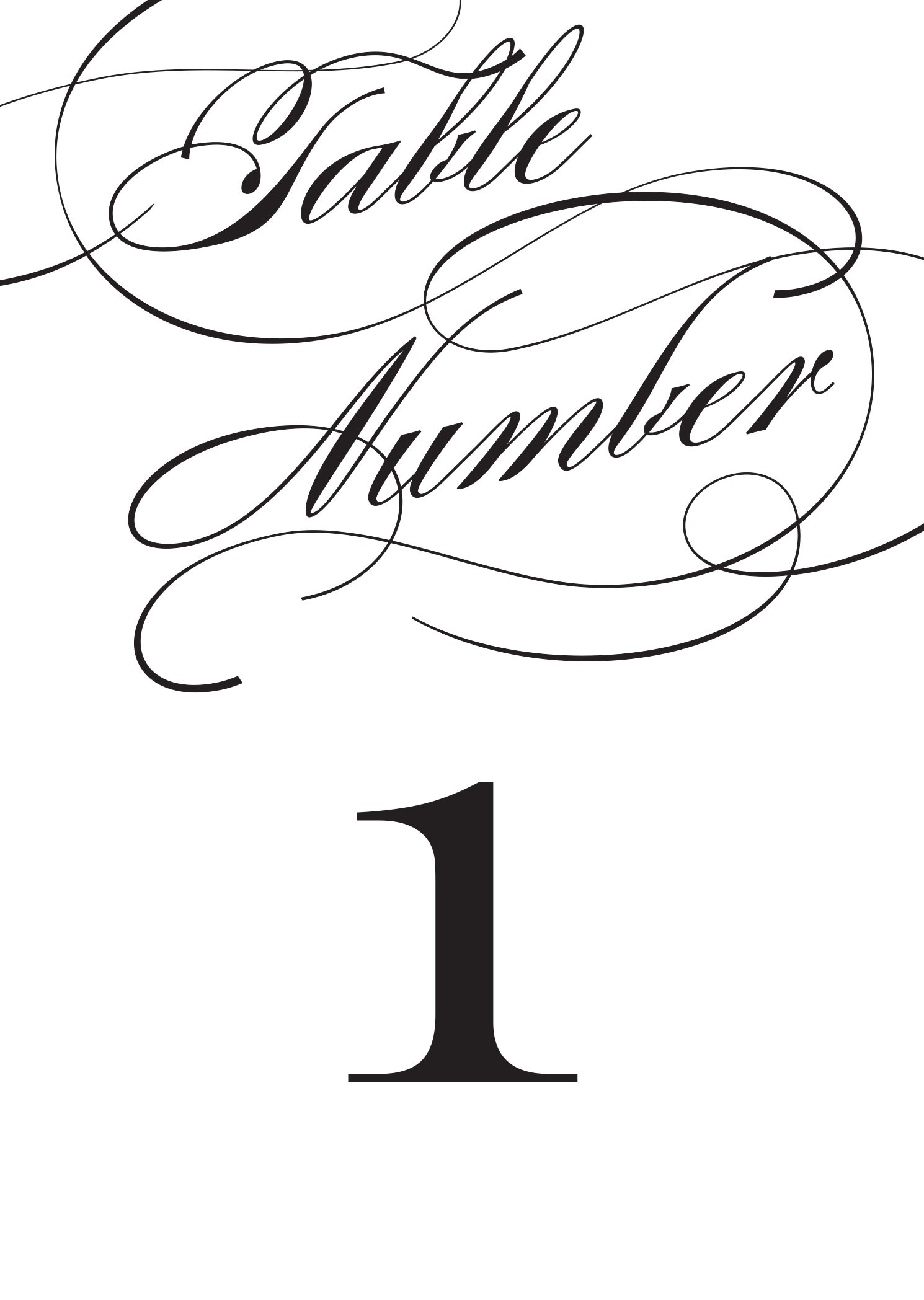 Wedding Table Numbers | Printable Pdfbasic Invite - Free Printable Table Numbers 1 20