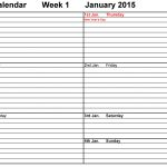 Weekly Calendar 2015 Uk   Free Printable Templates For Word   Free Printable Diary 2015