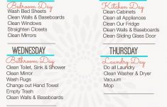 Weekly Cleaning Schedule {Free Printable} | Home Organization – Free Printable Cleaning Schedule