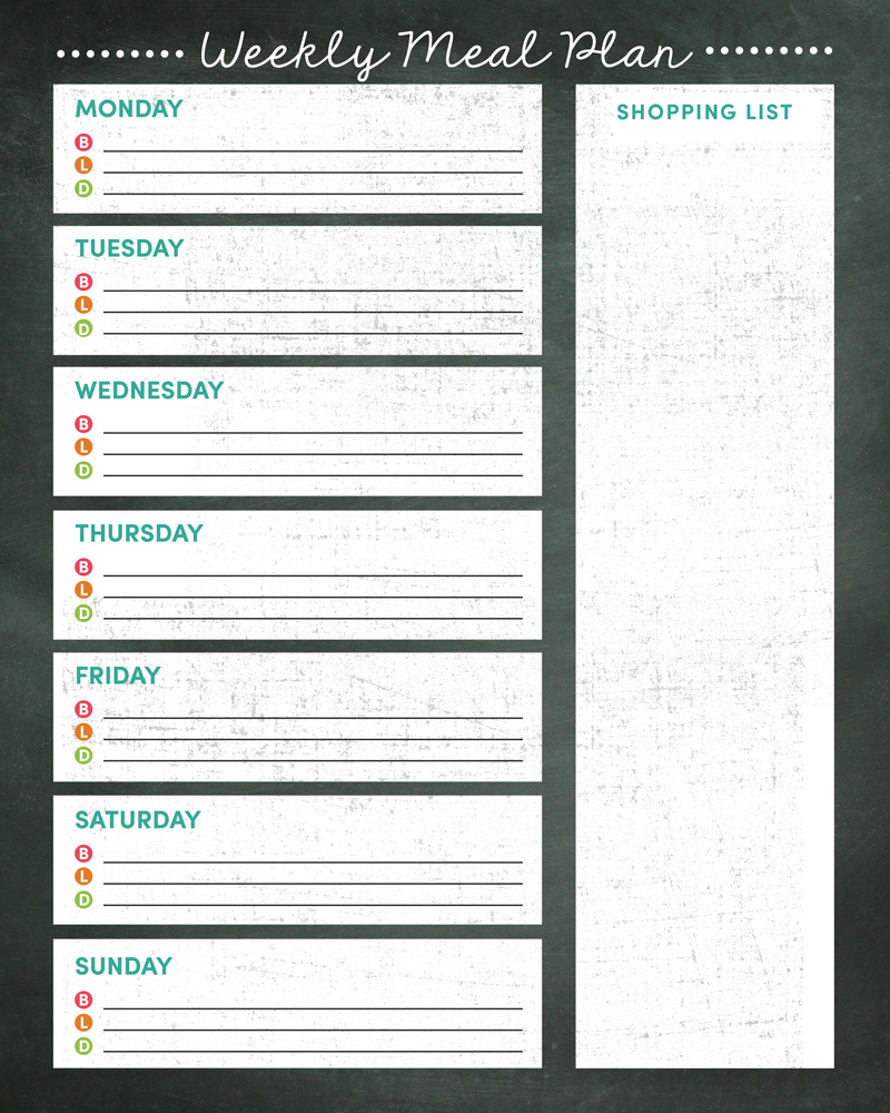 Weekly Meal Planner Printable - Weekly Menu Free Printable