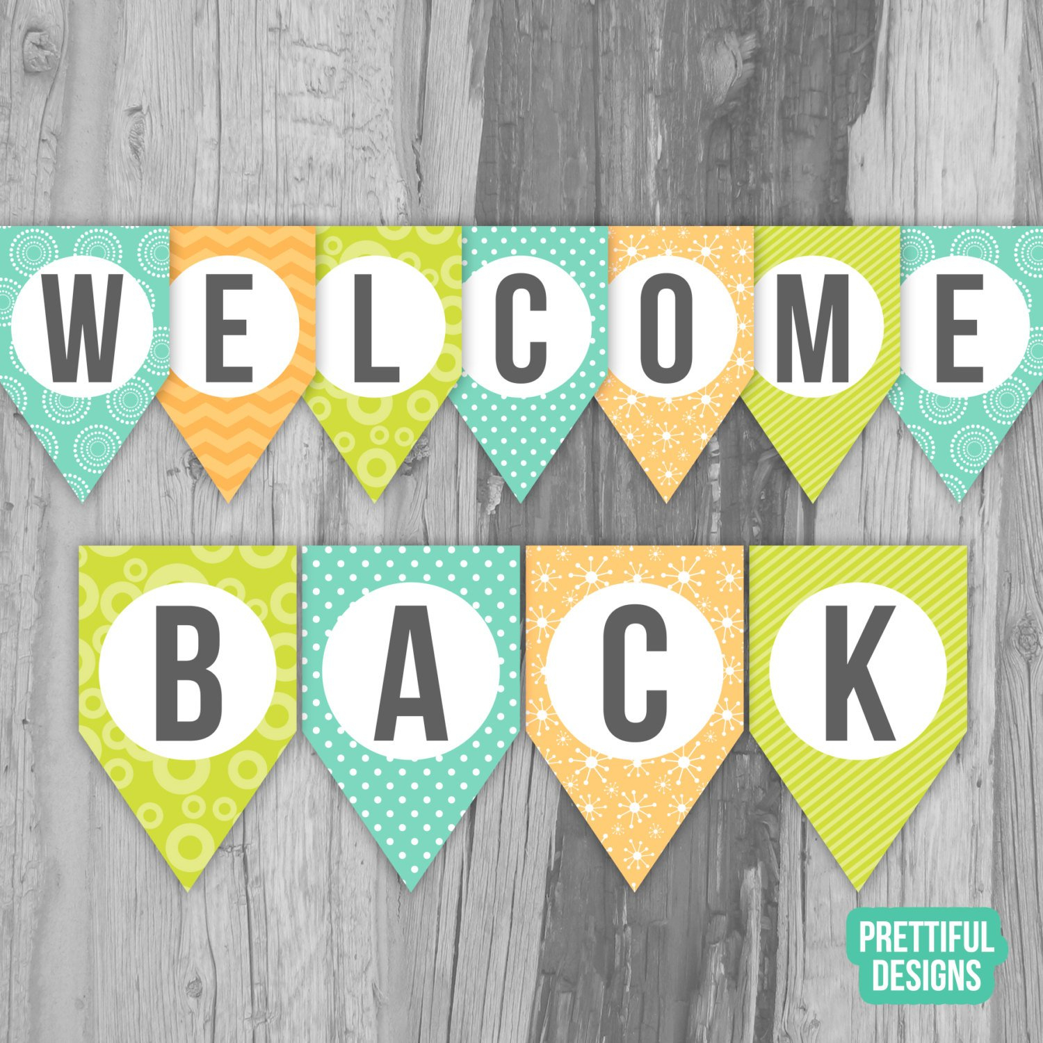 Welcome Back First Day Of School Banner Printable Instant | Etsy - Welcome Back Banner Printable Free