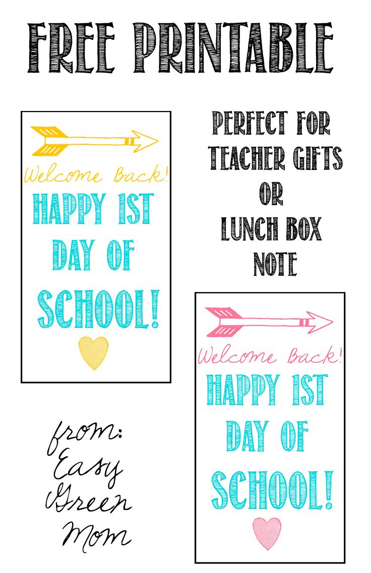Welcome Back! First Day Of School Gift Tag Free Printable - Free Printable Toe Tags
