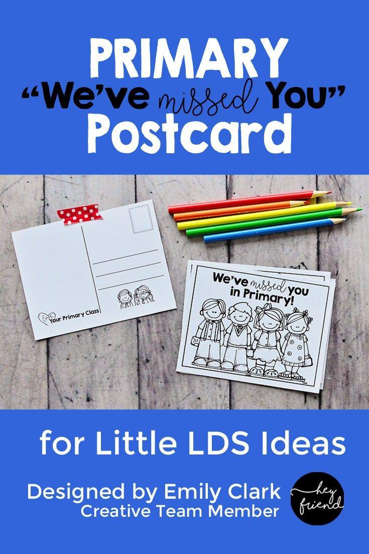 """We've Missed You"""" Primary Postcard Printable:free Printable - Free Printable Sud"""