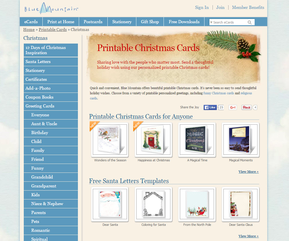 Where To Find Free Printable Christmas Card Templates – Printer - Blue Mountain Cards Free Printable