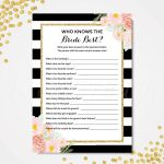 Who Knows The Bride Best, How Well Do You Know The Bride, Kate Spade   How Well Do You Know The Bride Game Free Printable