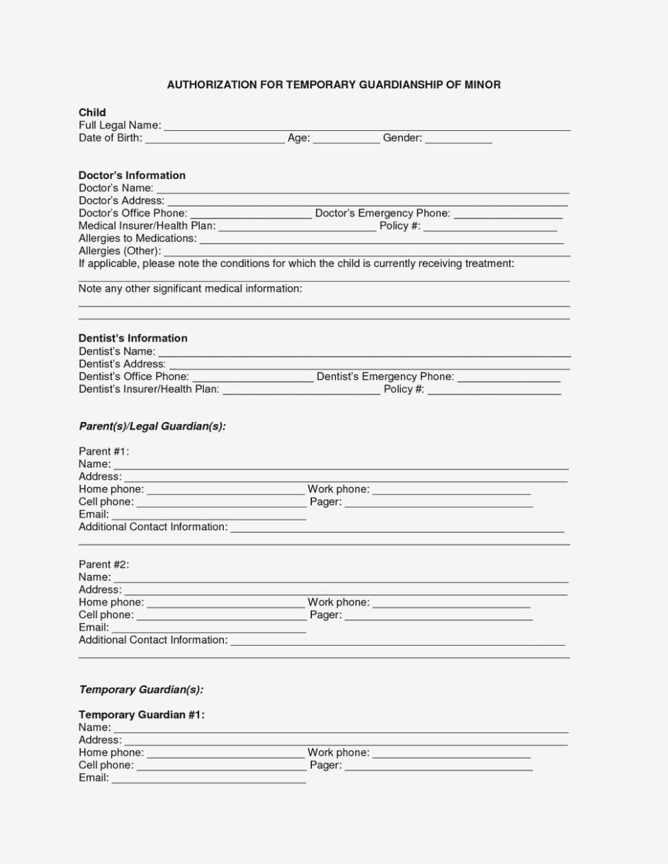 Why You Must Experience Temporary Medical | Form Information - Free Printable Child Medical Consent Form