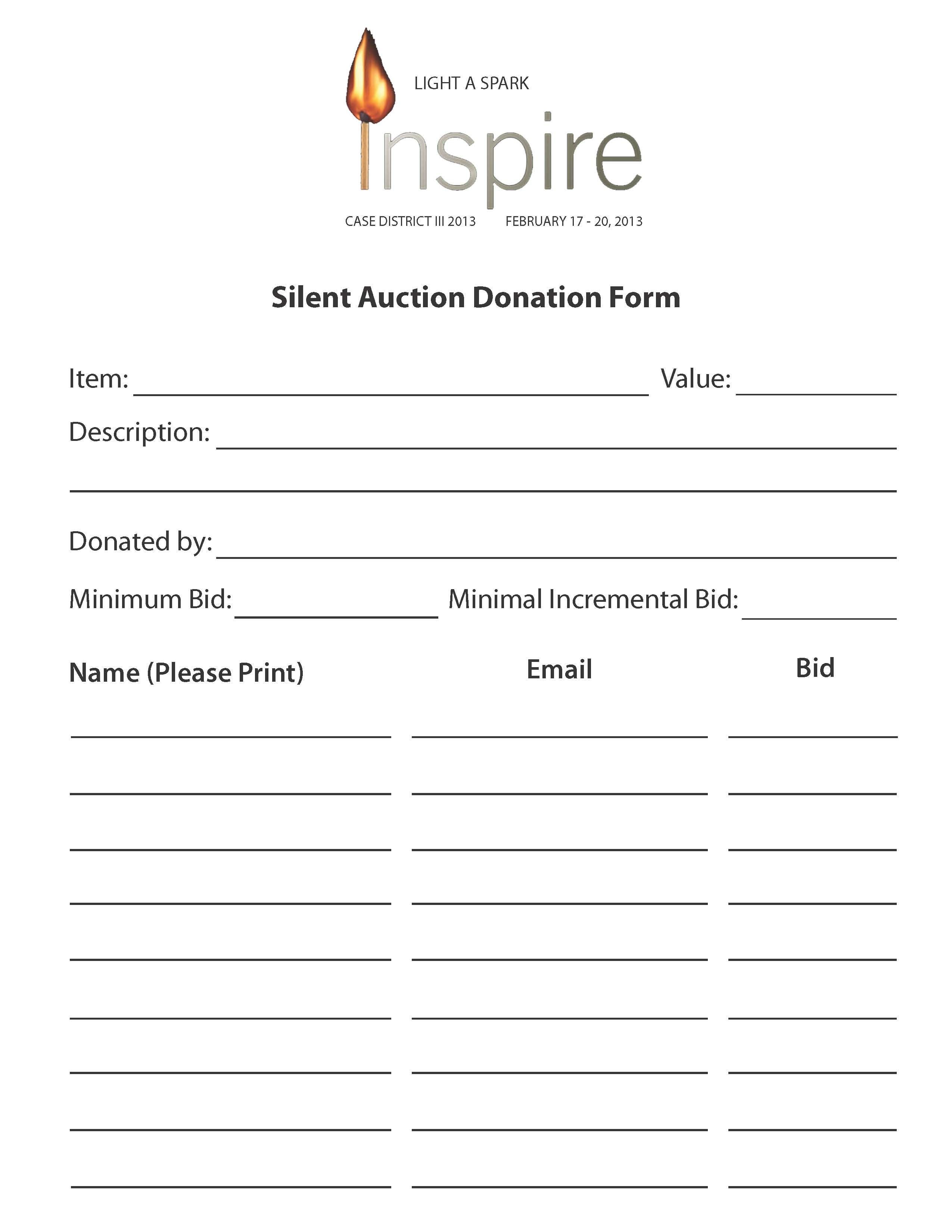 Wiitradwieri36/content/printable Silent Auction Bid Sheet 6891816 - Free Printable Silent Auction Bid Sheets